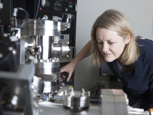 Prof. Julie Cairney at the atom probe